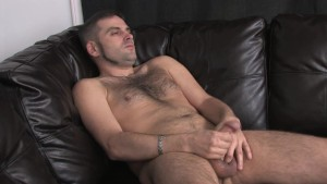 Hairy straight guy jerking off