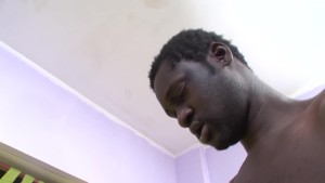 Huge black cock in a white twink