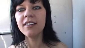 Amateur girlfriend full blowjob in a camping car