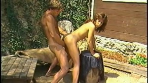 Vintage brunette gets fucked outdoors - Horizon Entertainment
