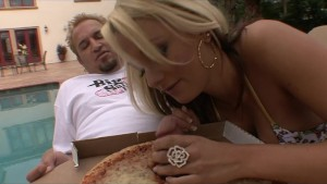 Horny big-tit hot blonde slut fucks pizza delivery boy s hard dick