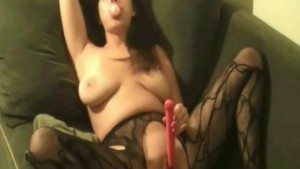 Chewing A Gum While Dildoing