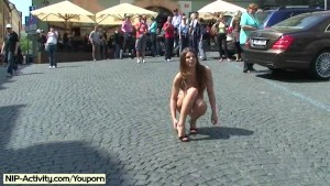 Hot babe monalee has fun on public streets