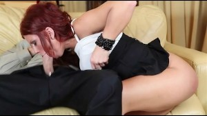 Redhead Brooklyn Lee Takes a Cock in the Ass