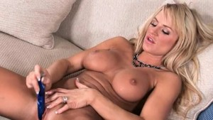 titty hooker using huge glass dildo