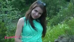 Zuzinka loves fucking her tight pussy outdoor