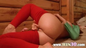 Hot russian shows pink hole on camera