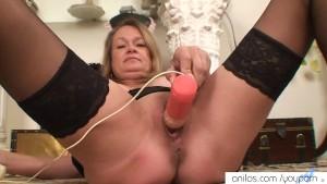 Horny granny needs to cum