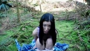 Adorable Asian Gets Down And Dirty With Nature
