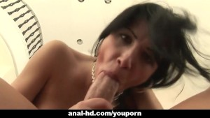 Rebecca Linares pleased by big cock