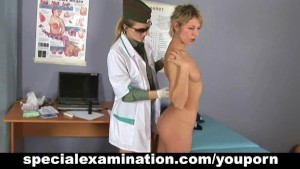 Special gyno exam and medical procedures for sweet blonde