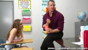 InnocentHigh Redhead teen Monica Rise fucks horny prof