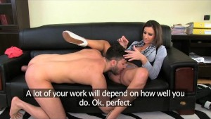 FemaleAgent. Massive cumshot across marvelous breasts