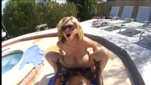 Busty Katie fucked by the pool - Black Market