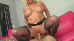 Cougar Joanna Seduces Young Man