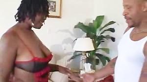 Ebony Plumper Honey Enjoying That Cock