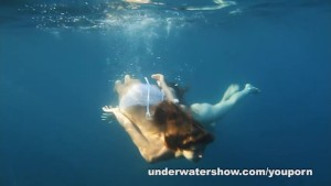 Nastya and Masha are swimming