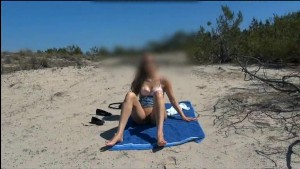 blonde 18 years old girl naked at beach