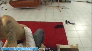 Rebel chick doing gorgeous lapdance