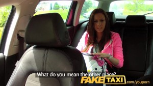 FakeTaxi College girl with big natural tits pays her way
