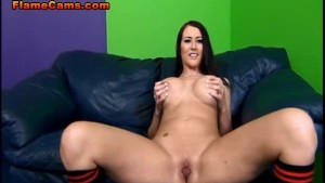 Busty Brunette Ashley Grace Riding Cock