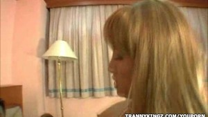 Slutty Tranny Gets Ass Drilled