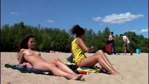 Hot teen nudists make this nude beach even hotter
