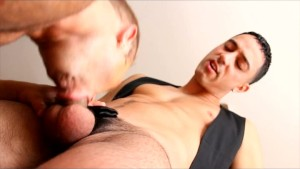 Thick&Big Bodybuilder swallows big cock in kitchen