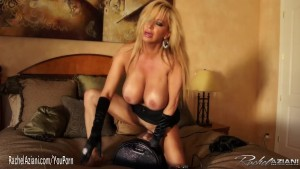 Rachel Aziani rides the sybian sex machine
