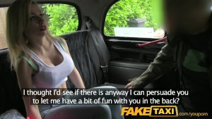 FakeTaxi Big red lips and Fake big tits