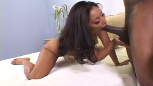 Asian babe Finesse Navaro fucked by huge black cock