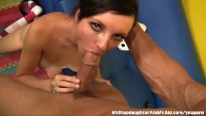 Dirty Stepdaughter Licks Her Stepdad s Ass