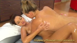 real lesbian slippery nuru massage fun