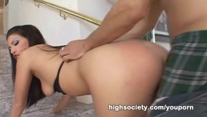 High Society - Roxy Deville fucked by a gigantic cock from a smaller man