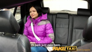 FakeTaxi Woman with big natural tits rides cock