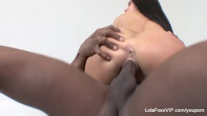 Cute bubble butt Lola Foxx gets fucked by a big black cock