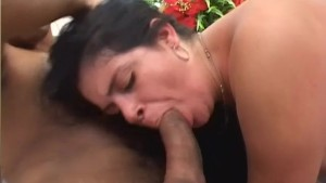 Fat slut gets blacked out