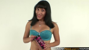 Tight Latina Liv Aguilera uses ZOLO toy to jerk off a hard cock until it cums