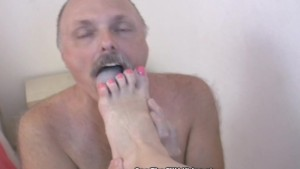 Foot Fetish Fatty Fucked By My Strap On!