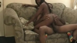 Black couple made long home porn video
