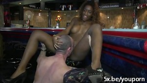 Tatiana a black girl fucked in a threesome