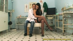 girl in stockings at the clinic