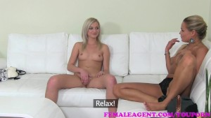 FemaleAgent Sexy slim blonde is deliciously horny