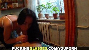 Fucking Glasses - Naughty teeny exposed