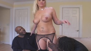 Blonde Wifey Fucked By Two Black Studs