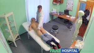 FakeHospital Sexy blonde screams with pleasure at doctors discount on new breasts