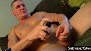 Tattooed Straight Guy Maverick Masturbating