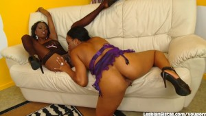 Ebony Babes Play With Toys In The Dressing Room