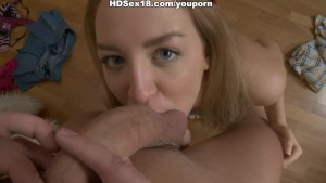 A common sexy hardcore fuck with the huge facial in the end