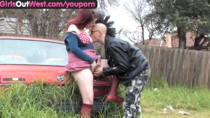 Girls Out West - Amateur Australian punk couple having sex